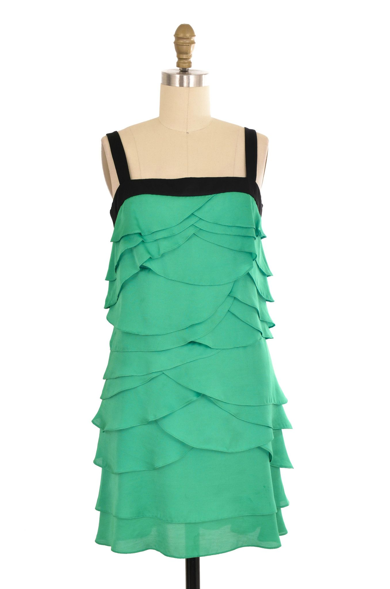 BCBG Max Azria Green Tiered Dress Size 2 | ClosetDash | Let\'s Play ...
