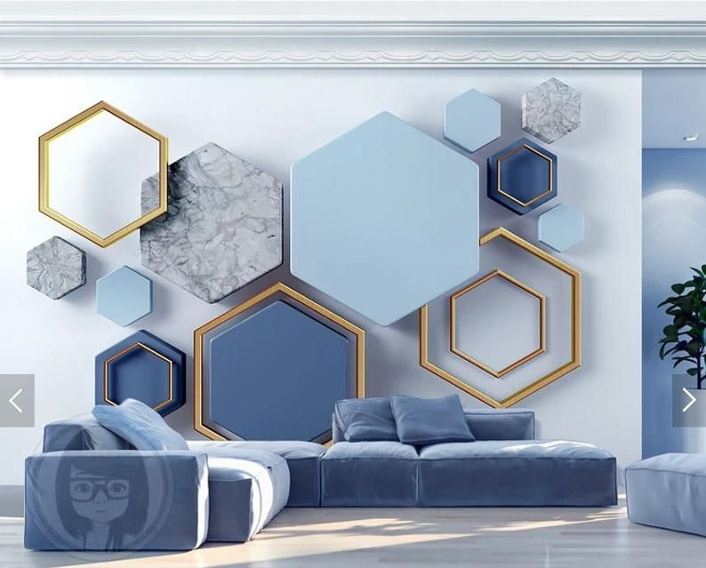 Wall Mural Abstraction Wallpaper Mural Wallpaper For Etsy Wall Painting Living Room Wall Decor Bedroom Living Room Paint