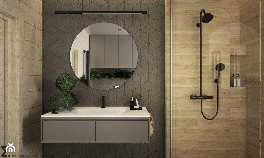 Lazienka Z Nowoczesna Ceramika Miska Wc Laufen Pro Projekt Synage Domni Pl Lazienka Zak Round Mirror Bathroom Lighted Bathroom Mirror Bathroom Mirror
