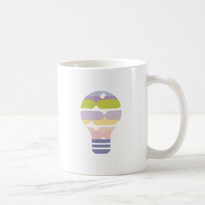 Hexahedrons Inside Idea Bulb Abstract Design Paste Coffee Mug - home decor design art diy cyo custom