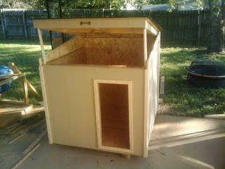 Flat Roof Dog House Plans Design Hinged