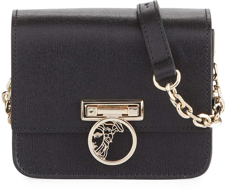 e1d7ed48cd4c Versace Small Saffiano Leather Crossbody Bag with Medusa