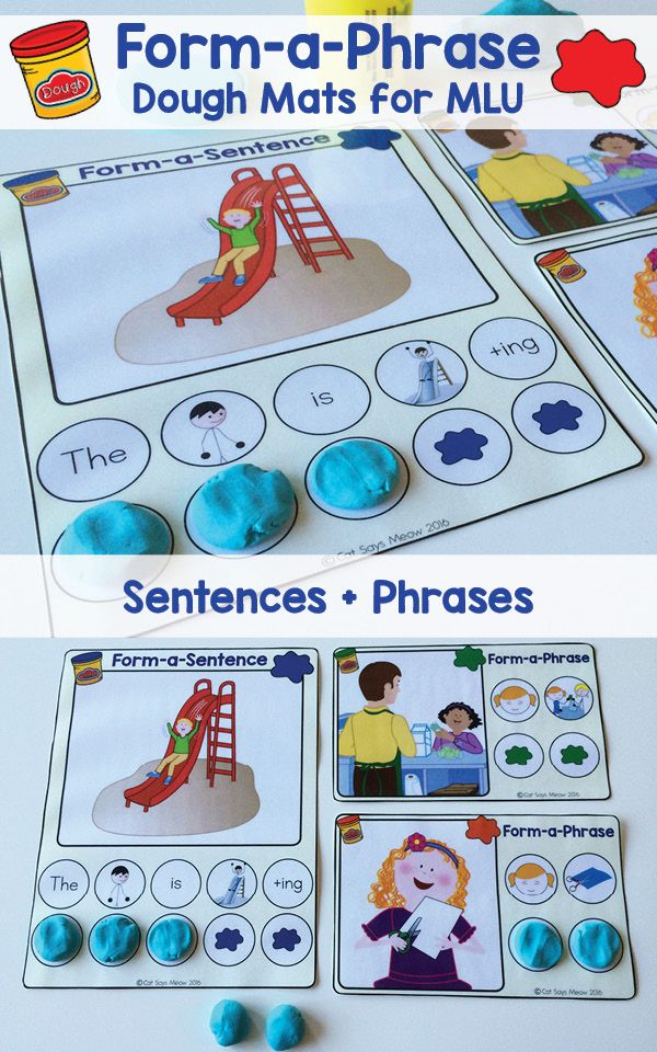 articulation games for preschoolers form a phrase dough mats practice increasing mlu w 549