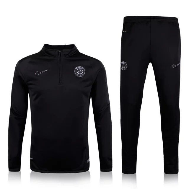 PSG 2015 2016 3RD Away Black Men Tracksuit