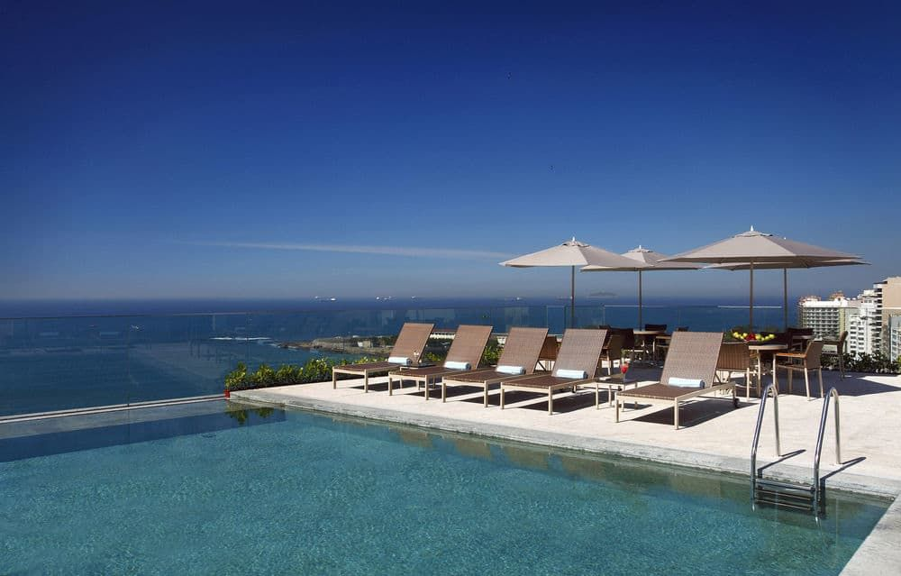 The Best Rooftop Pool View In Rio Miramar Hotel Windsor Hotel