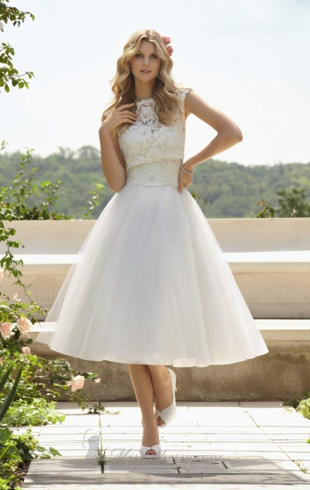 23 Beautiful Short Wedding Dresses Ball Gowns Wedding Tea Length Wedding Dress Tea Length Wedding Dresses Lace