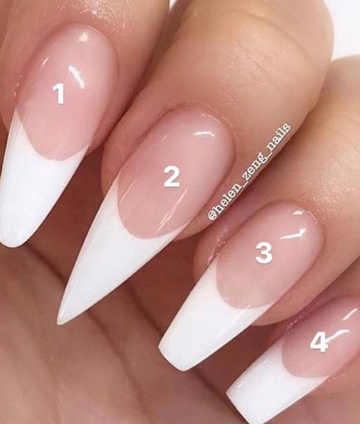 Acrylic Nail Styles Different Types Of Acrylic Nails Coffin Square Stiletto Rounded Nails Which Nail Is Yo Acrylic Nail Shapes Round Nails Types Of Nails