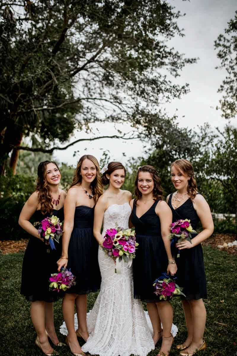 Black bridesmaid dresses marie selby botanical gardens wedding black bridesmaid dresses marie selby botanical gardens wedding photo alisa sue photography ombrellifo Images