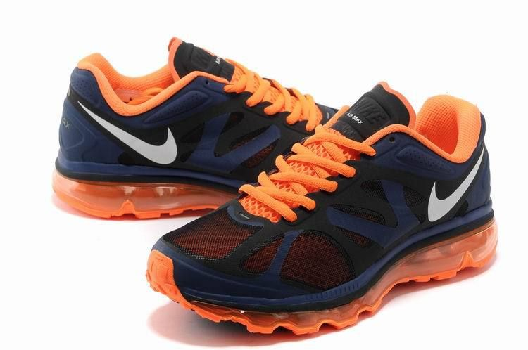 Nike Air Max 2012 Grey Red Blue Logo Shoes