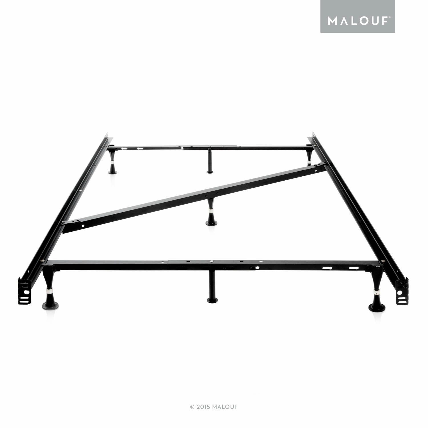 Structures Heavy Duty Adjustable Metal Bed Frame With 7 Legs