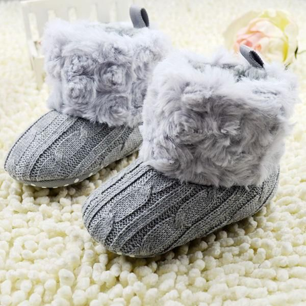 Baby Crochet Knit Snow Boots - FREE Shipping