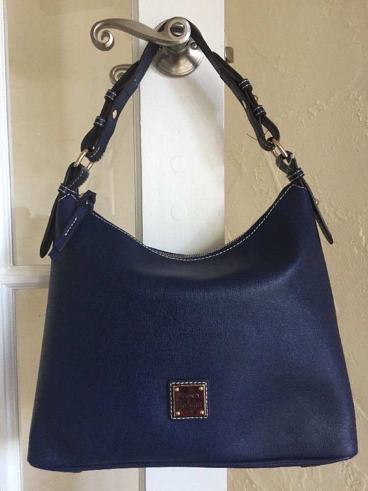 6e5559cc9 Dooney Bourke Saffiano Hobo in Marine Blue SU924 Shoulder Bag | eBay