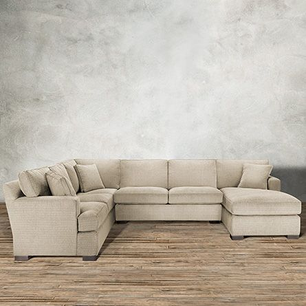 Garner 136  Three Piece Upholstered Sectional In Trina Linen | Arhaus Furniture | Sectional couches | Pinterest | Chenille fabric Neutral palette and ... : arhaus garner sectional - Sectionals, Sofas & Couches