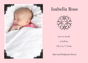 Baby Girl Announcement Wording Ideas Birth Announcement Ideas - Girl birth announcements