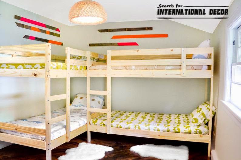 2 Bunk Beds In One Room Google Search Beds For Kids Girls Stairs Kids Bunk Beds Bunk Bed Designs Beds For Small Rooms