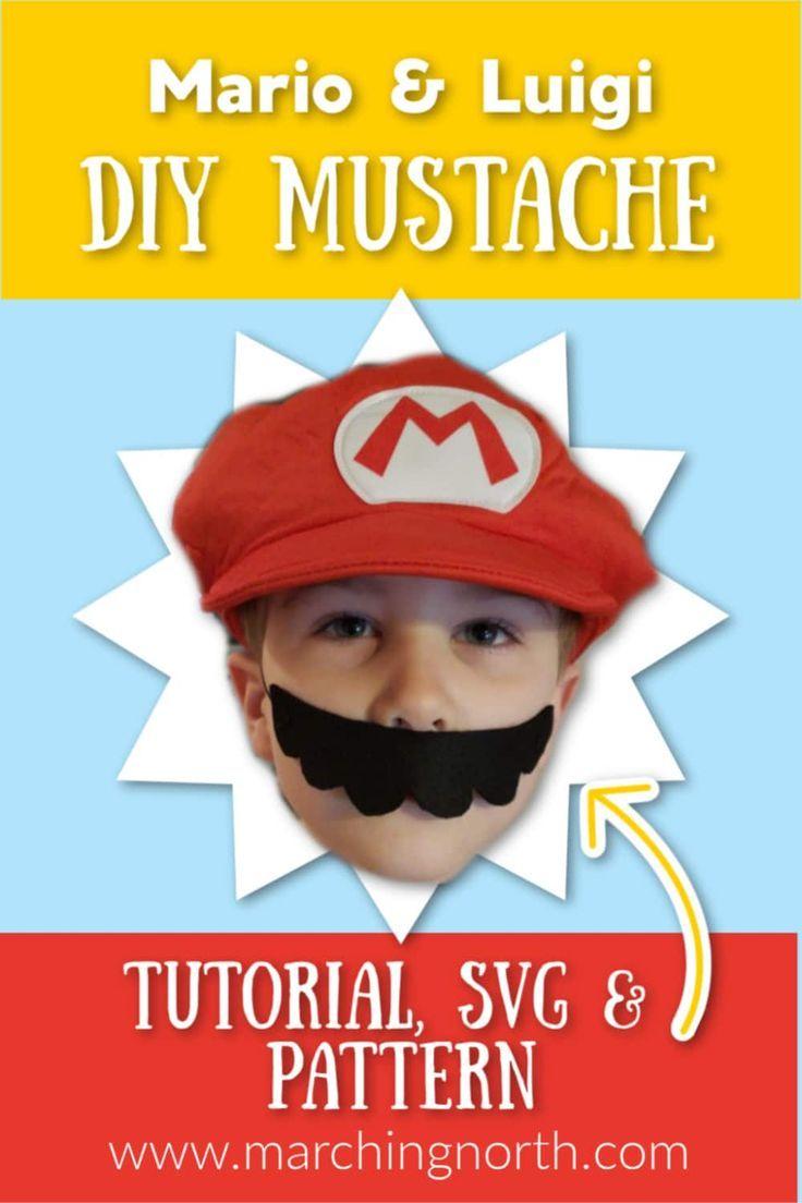 Mario luigi mustache diy simple hack for halloween