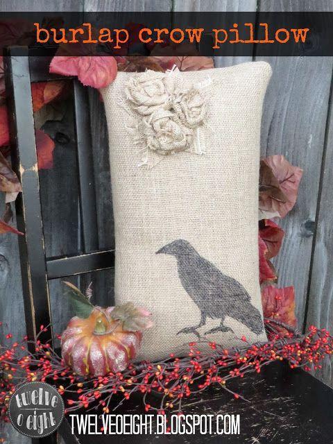 Amazon.com Burlap Pillow Perfect For Fall Decorating #burlap #pillow #fall #falldecor #fallcr...