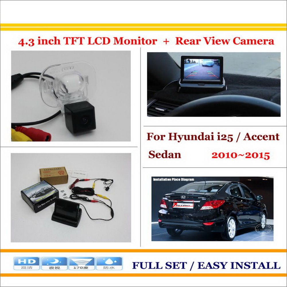 Car Reverse Rear Camera 4 3 Tft Lcd Monitor 2 In 1 Parking System For Hyundai I25 Accent Sedan 2010 2015 Lcd Monitor Mercedes Benz Benz