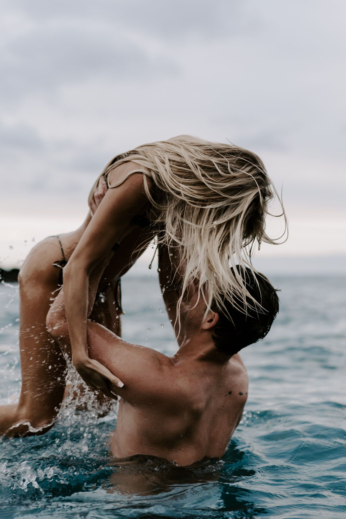 Intimate Couples Session In Ocean Big Island Hawaii Zach