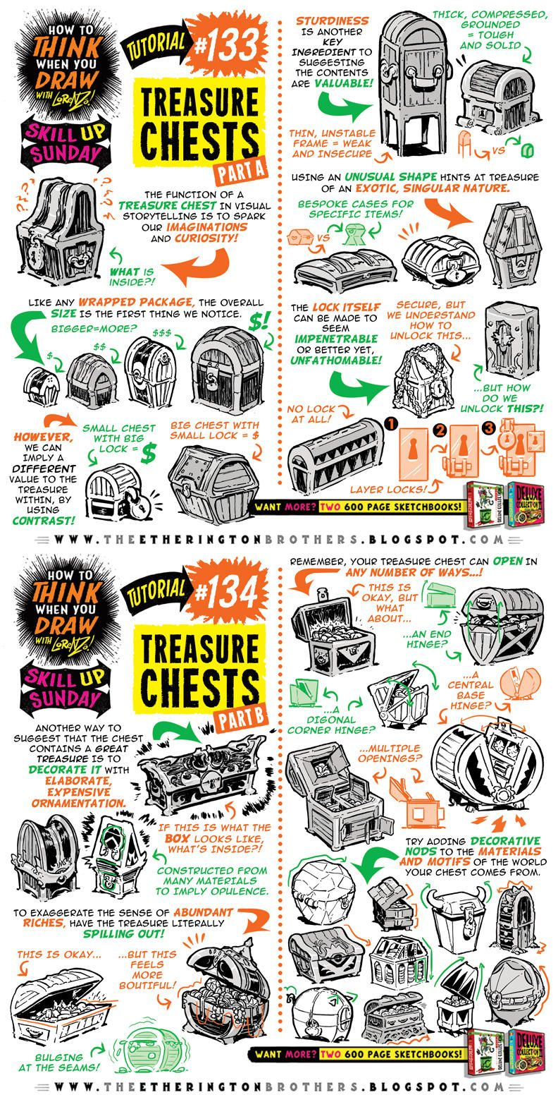 How To Draw Treasure Chests Tutorial By Studioblinktwice Drawing