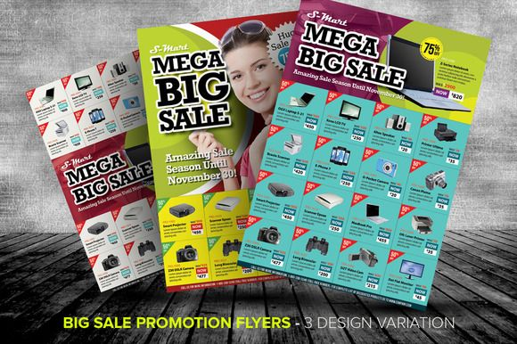 Big Sale Promotion Flyer Templates | Flyer Template, Marketing