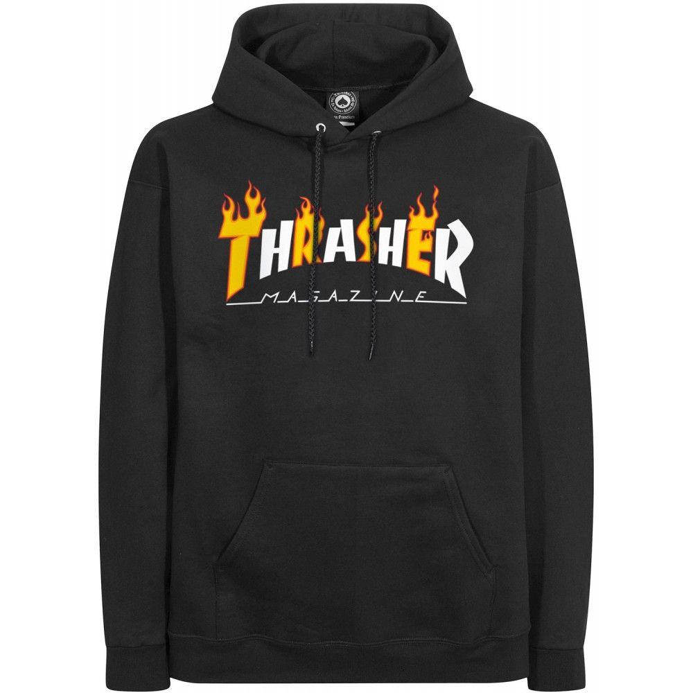 Pinterest Pullover Black Thrasher Hoodie Flame Shirt Sweat Mag URx6qBwn7