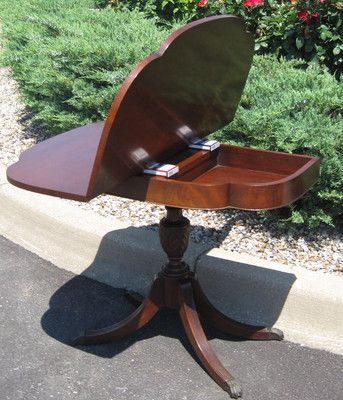 Imperial Game Table Mahogany Federal Mid Century