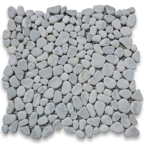 Carrara White Italian Carrera Marble River Rocks Pebble