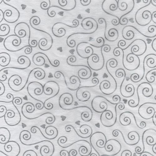 Silver Florentine Hearts Printed Tissue Paper (5)