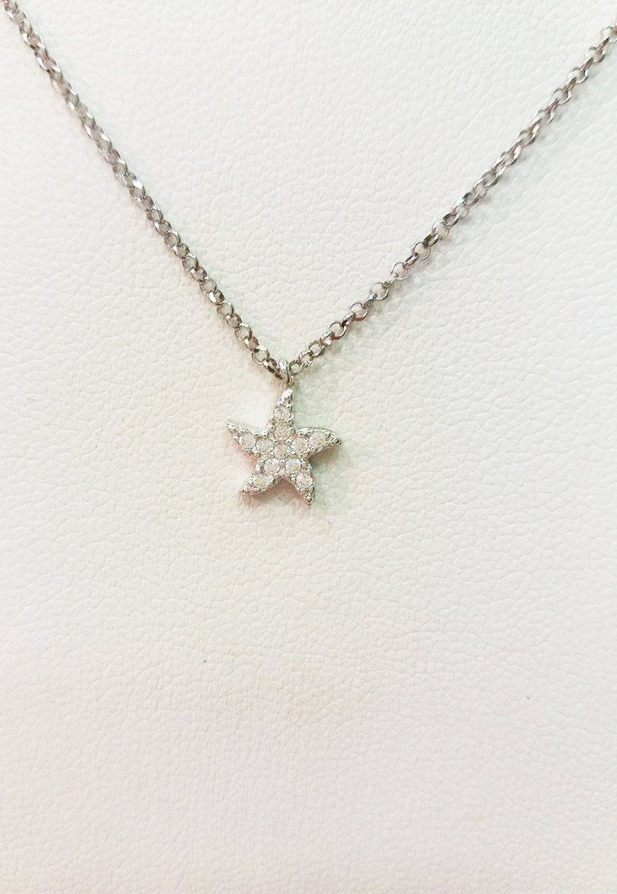charm girly necklace pendant gift star tiny under silver falling sterling