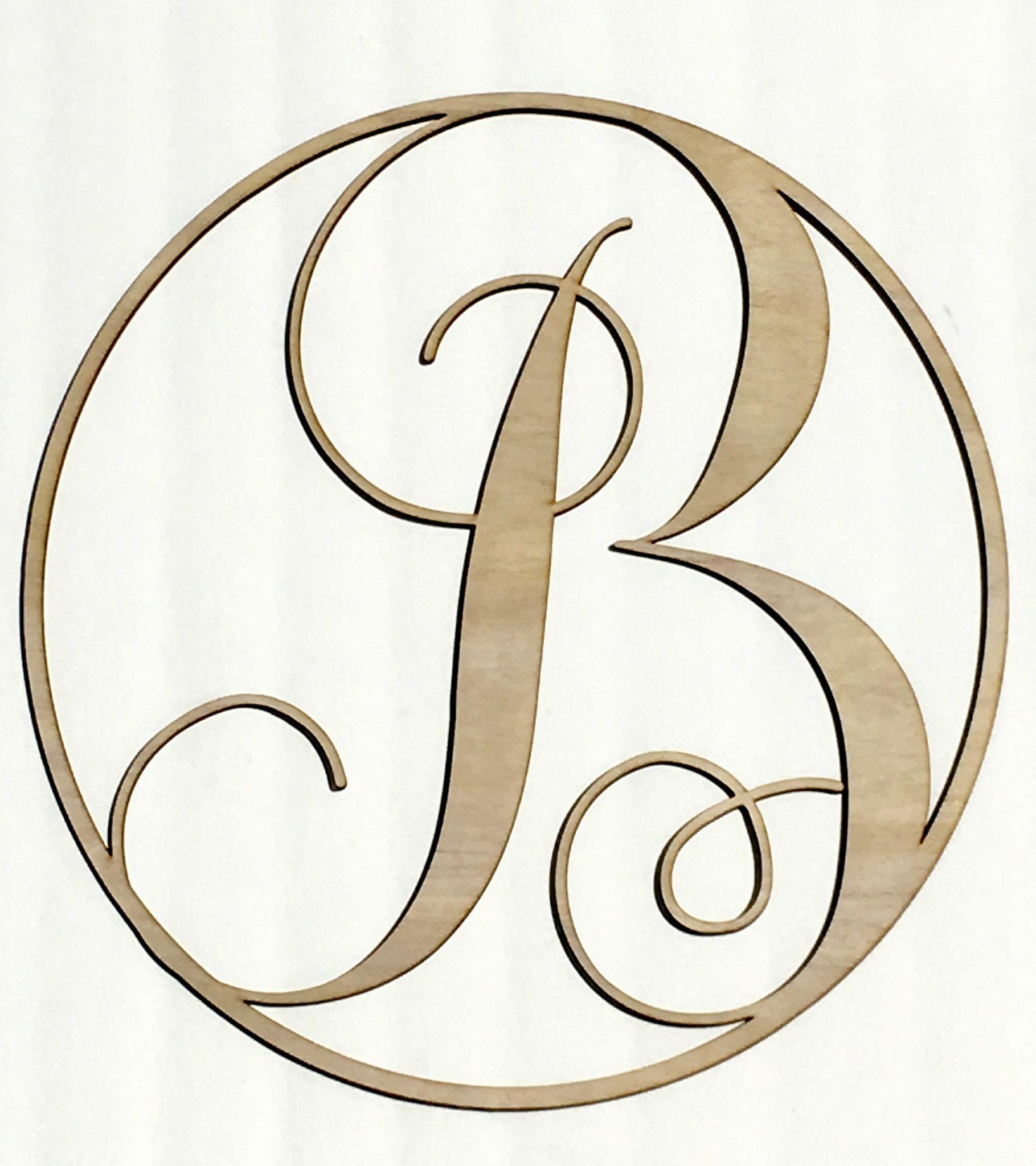 Wood Monogram Letters B Wood Monogram Letters Monogram Letters Wood Monogram