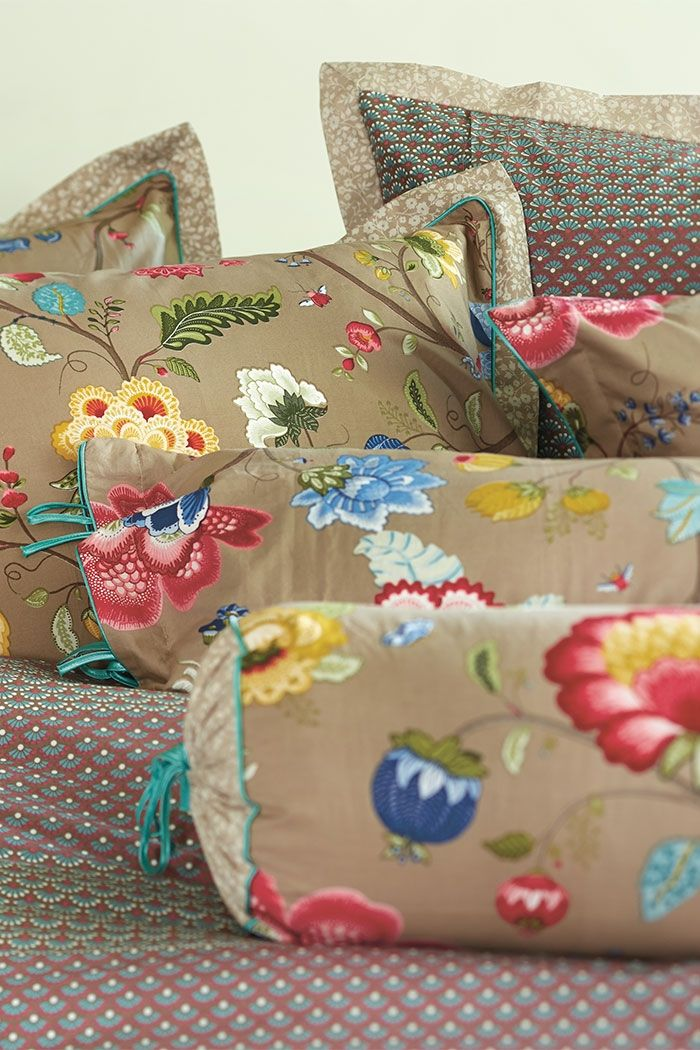 PiP Floral Fantasy | Khaki Bedding | PiP Studio © | Pip studio ...