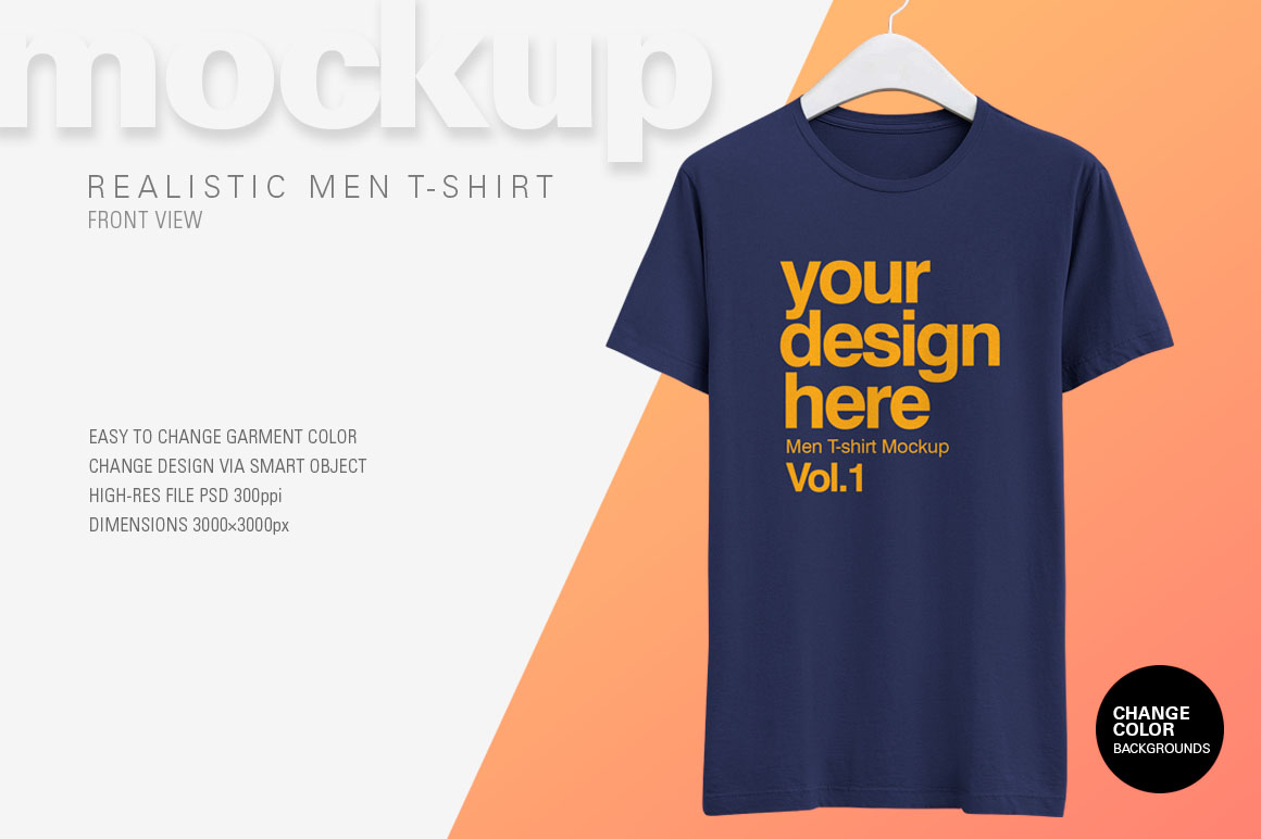 Download Awesome Men T Shirt Psd Mockup Available With A Realistic Appearance Awesome Men Tshirt Psd Mockup Kaos Desain
