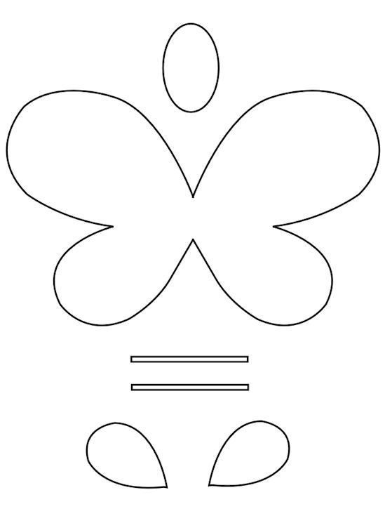 Smiley Butterflies Paper Craft with Butterfly Template Free