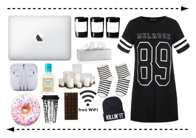 """""""My hart is a ghost town"""" by clea69 ❤ liked on Polyvore featuring moda, Blomus, Simple Pleasures, Byredo, Ally Fashion, Pieces, Iscream y Dot & Bo"""