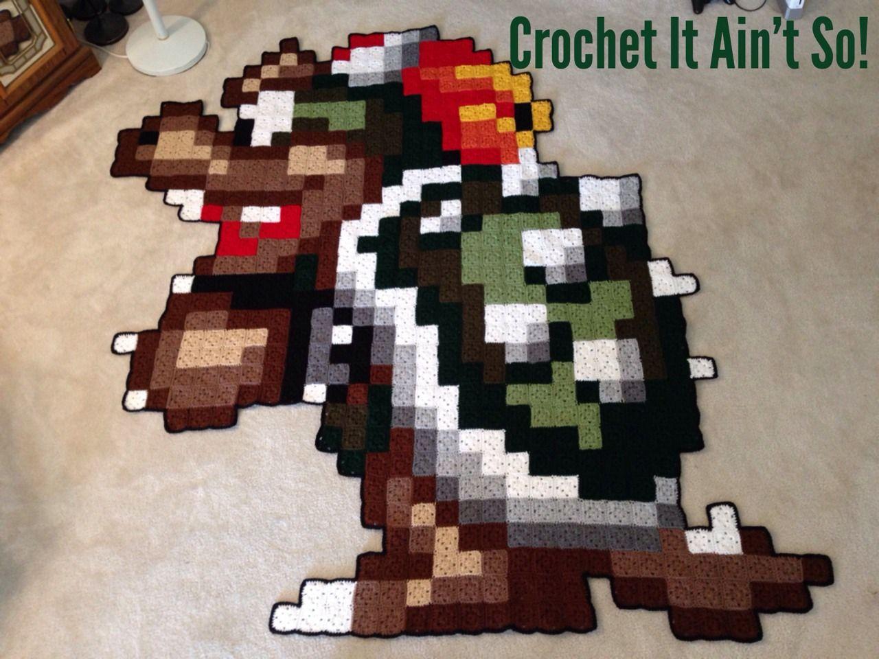 Bowser 16-bit crochet! | Crochet | Pinterest | Tejido