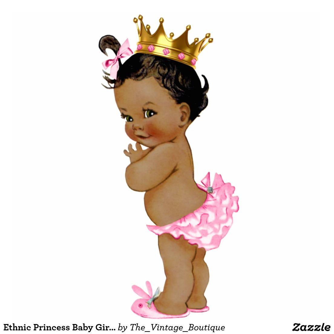 Ethnic Princess Baby Girl Shower Statuette | Baby Shower Invites ...
