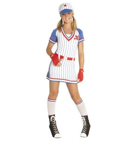 teen girls all american baseball costume party city halloween stuff - Baseball Halloween Costume For Girls