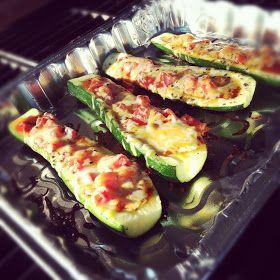{Infinite Possibilities}: grilled zucchini pizza boats.
