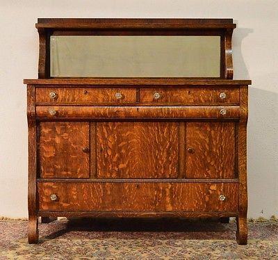 Fabulous 1900 1950S Antique Tiger Quartersawn Oak Empire Download Free Architecture Designs Embacsunscenecom