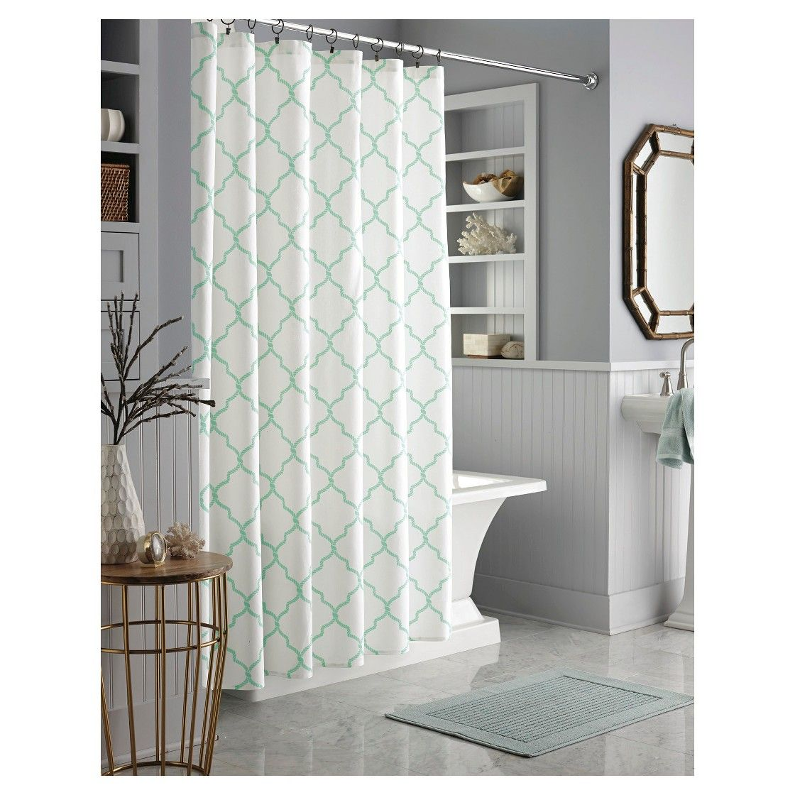 Chevron bathroom sets with shower curtain and rugs - Shower Curtains