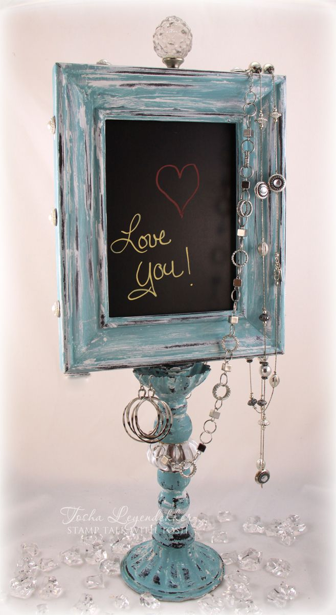 I ♥ this!!! Stamp Talk with Tosh: Chalkboard Display Stand @Tosha ...