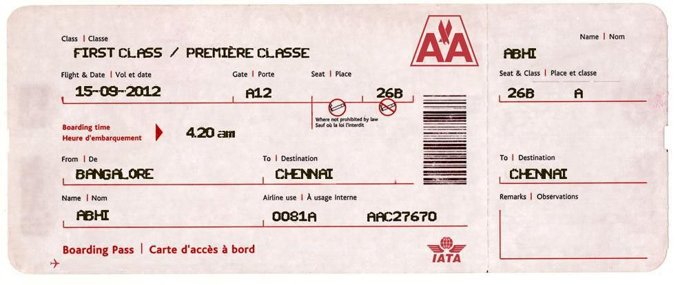 27 best airline boarding pass ticket template examples thogati - plane ticket template