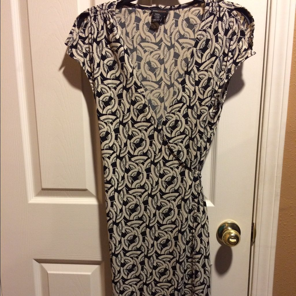 Bcbgazria black and tan wrap dress wrap dresses and products