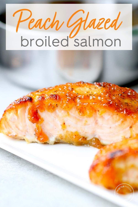 Bourbon Peach Glazed Salmon