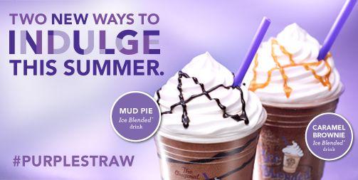 Ice Blended Drink Mud Pie Or Caramel Brownie Purplestraw Blended Drinks Vanilla Iced Coffee Caramel Brownies