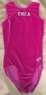 a4d25289aa26 Youth YMCA Girls X-Small Pink Leotard GK Elite Sportswear One Piece ...