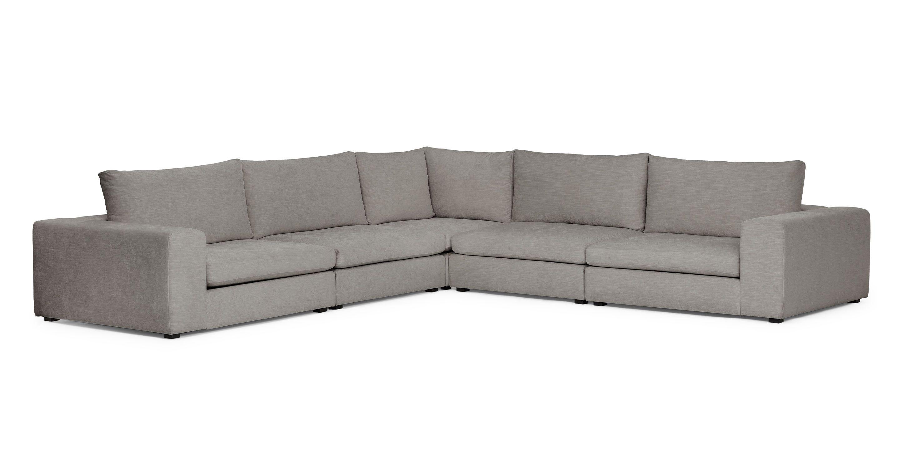 Gray Fabric Modular Corner Sofa | Article Gaba Contemporary ...