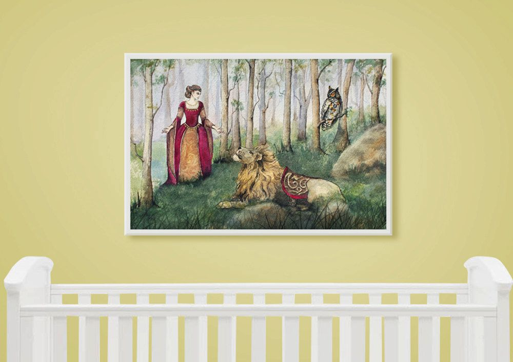 Kids Wall Art Print from an original watercolour painting by Corinne ...
