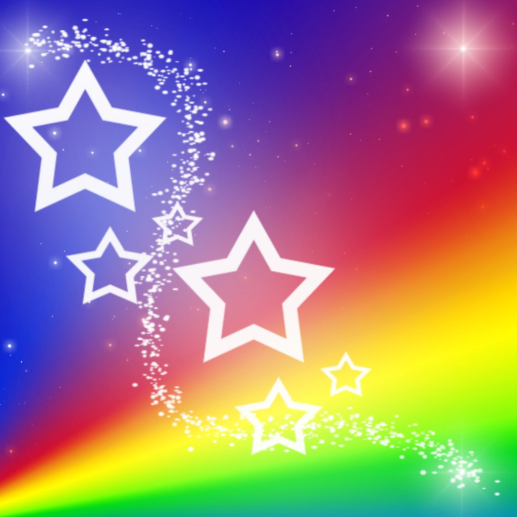 Stars rainbow picture rainbow star background by for Star wallpaper